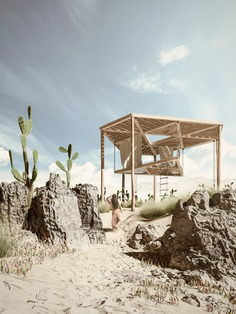 Architectural Concepts by Javier Valero. Liftable Beach Cabin.