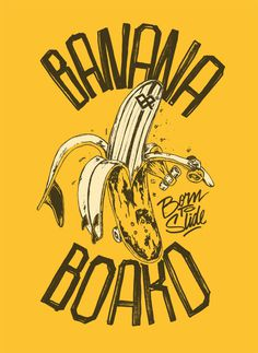 https://m1.behance.net/rendition/modules/98081337/disp/1e5371d68d1318657968c7114035feb0.jpg #banana #surf #skate #board