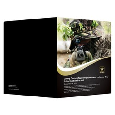 U.S. Army Presentation Folder (Back and Front Open View) #Folder #PresentationFolder