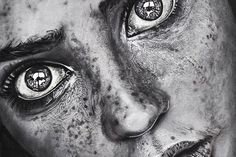 Christina Papagianni #nose #eyes #close #illustration #up #painting #face