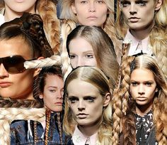 Currently Crushing On // Servane Gaxotte & Plaits « mariankihogo.com #model #eyelashes #lips #girls #hair #blonde #braid #face