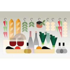 Re:porter magazine illustrations by Studio Hey #illustration #icon #iconic #food #vegetable #geometric #flat