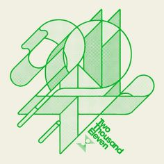 My Green Screen - numberoftheday: 2011 (by Jeremy Pettis) #green #numbers #design #typography