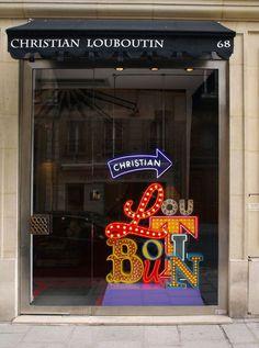 Signage, neon #window #christian #louboutin