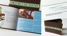 Innovation is our Tradition Brochure #print #design #collateral #brochure