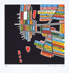 Manhattan (Silkscreen Signed Limited Edition of 100) by Stanley Donwood #music #radiohead #ny #stanley donwood