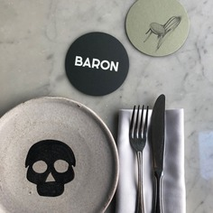 Baron restaurant identity - Mindsparkle Mag 1 / One over brand design studio designed Baron restaurant identity. #logo #packaging #identity #branding #design #color #photography #graphic #design #gallery #blog #project #mindsparkle #mag #beautiful #portfolio #designer