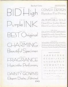 Bernhard Fashion type specimen #type #specimen #typography