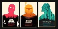 Olly Moss - Star Wars My take on the original Star Wars... #print #wars #screen #star #poster #olly #moss