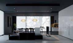 Juodas interjeras / Black interior. View 03 #interior #viz #3d #black