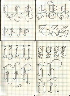 Sketchbook Letterforms