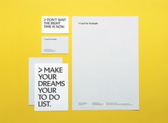 Lead by Example 2 #print #stationery