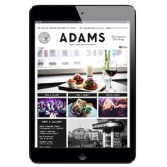 ADAMS Club & Restaurant website. Design: Tony Eräpuro #layout #mobile #responsive #masonry #website restaurant #club #helsinki