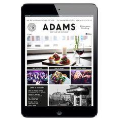 ADAMS Club & Restaurant website. Design: Tony Eräpuro #layout #mobile #responsive #masonry #website restaurant #club #helsinki