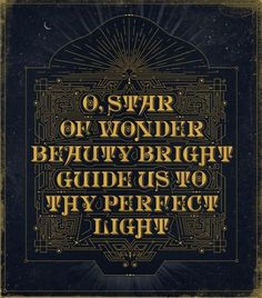 Typeverything.com - 'O, Star Of Wonder' Christmas... - Typeverything #type #design