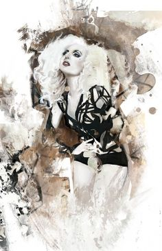 Mixed Media Artwork on the Behance Network #fashion #illustration