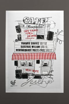 Silk Screened Poster Series | Café Concerto on Behance #print #poster #silk