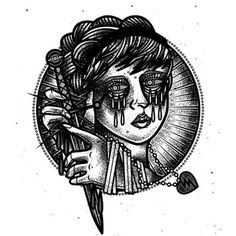 #illustration #design #vector #tattoo #occult #woman #drawing #design #dark #dotwork #lineart