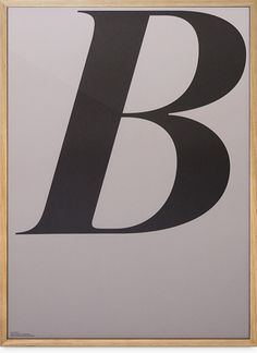 ABCD Poster — B #type #poster