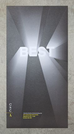 CSCA Poster on Behance #typo