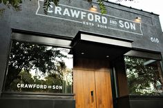 Crawford & Son Exterior, Sign - Paul Tuorto