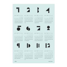 SNUG.TOYBLOCKS CALENDAR 2015 BY SNUG.STUDIO € 18.90 Available in several colors, this wall calendar features circles, semi-circles, tri