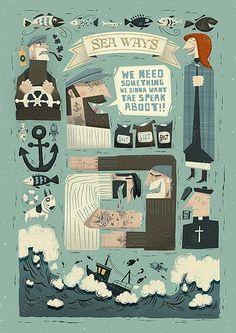 Peter Donnelly - Seaways #illustration