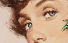 illustration, vintage, pin up, eyes, beauty, art