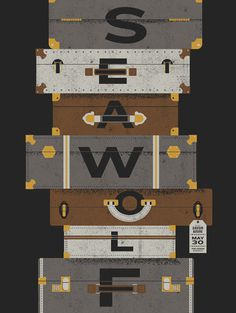 Sea Wolf, screen print Gig Poster #screen #print #suitcase #typography