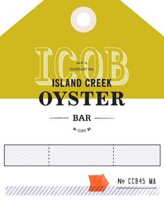 Island Creek Oyster Bar #menu #design #web #navigation