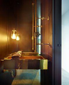 Australian Paddington Residence by Ellivo Architects Studio bathroom different shades gray