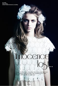Innocence Lost #styling #lay #volt #out #cafe #photography #fashion #layout #editorial #magazine #beauty