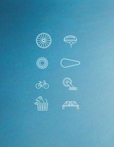 Bike Icons #fixed #design #icons #gear #biking #bike #cycling