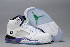 "Air Jordan AJ 4 Retro with ""Grape Emerald Green"" & ""Grape Ice""/Black White Color - Women Style #shoes"
