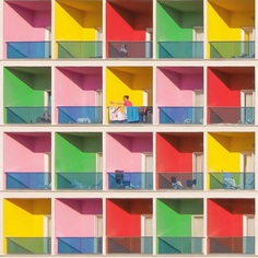 Yener Torun Captures Minimal and Vibrantly Coloured Walls and Buildings