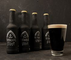 Tastes Of Ireland on - Laurence Smith #beer #titanic #bottle #packaging #drink #alcohol #ireland #label #chalk #drinks #stout #belfast #typography