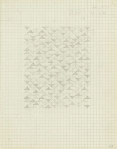The Josef & Anni Albers Foundation #geometric #1974 #pencil on paper #anni albers #drawing #from #a #notebook