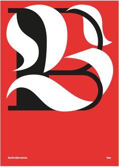 Hey Studio, BERLIN-BARCELONA http://heystudio.es/ #hey studio #type #poster #lettering