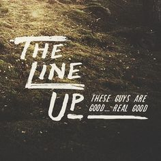 The Line Up #lettering #line #color #texture #crafted #people #illustration #photography #nature #up #made #type #brave #hand #typography