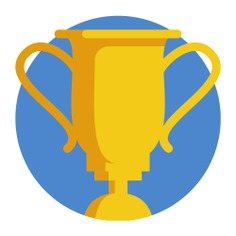 See more icon inspiration related to sports and competition, champion, winner, award, trophy and cup on Flaticon.