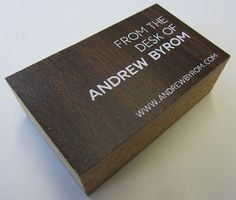 Creative Review - Andrew Byrom's recycled business cards #card #design #business #typography