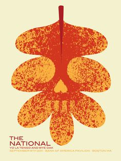 GigPosters.com National, The Yo La Tengo Wye Oak #gigposter