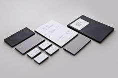 Two Times Elliott Stationery #white #times #branding #cross #black #two #elliott #identity #stationery #grey