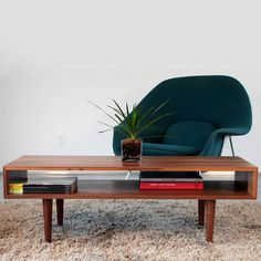Classic Coffee Table by Eastvold Furniture #interior #eames #teak #midcentury #plant
