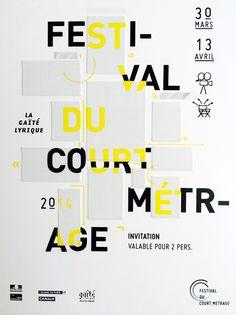 Festival Du Court Metrage Poster by Aurelien Blanchetiere