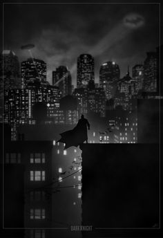 Dark Knight noir poster by Marko Manev