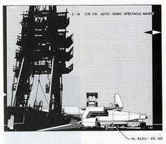 Neil Denari. A+U 246 March 1991: 41 | RNDRD #perspectives #drawings #renderings #architecture