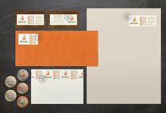 3 Advertising ID Packages #card #orange #business #stationery