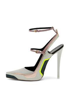 Jil Sander a/w 12 #heels #neon