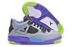 Nike Basketball Sneakers Retro Jordan 4 Cool Grey Court Purple Game Royal Club Pink Colorways